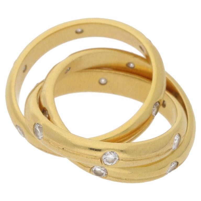 18 Karat Gold Diamond Tiffany & Co. Russian Ring