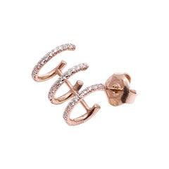 18 Karat Gold Diamond Triple Ear Cuff Earring