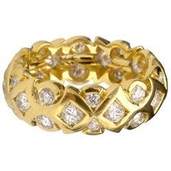 18 Karat Gold Diamond Wedding Ring