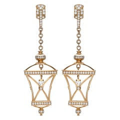 Sybarite Jewellery 18 Karat Yellow Gold 4.01 Carat Diamond Drop Earrings
