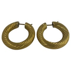 18 Karat Gold Earrings