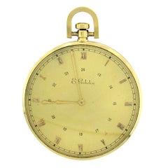 18 Karat Gold E.Gubelin Oversize Open Face Pocketwatch