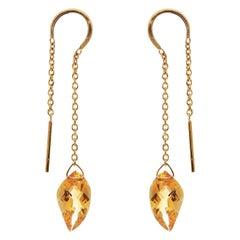 18 Karat Gold Elegant Citrine Earrings