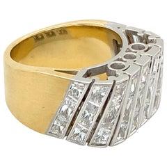 "18 Karat Gold ""Elica"" Diamonds Ring"