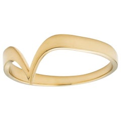 18 Karat Gold Fabri Stackable Ring