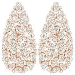 18 Karat Gold Full Diamond Earrings