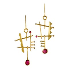 18 Karat Gold Gemfields Ruby Orpheus Earrings