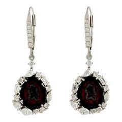 18 Karat Gold Geode Diamond Earrings