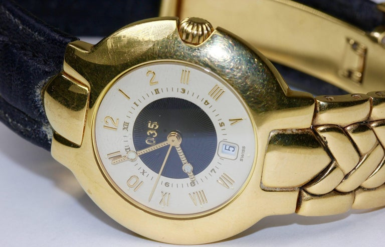 18 Karat Gold Gianni Versace '035' Automatic Wristwatch, Limited Edition In Good Condition In Berlin, DE