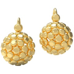 18 Karat Gold Globe Earrings by Romae Jewelry Inspired by Ancient Roman Designs