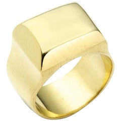 Greek Signet Ring in 18 Karat Gold