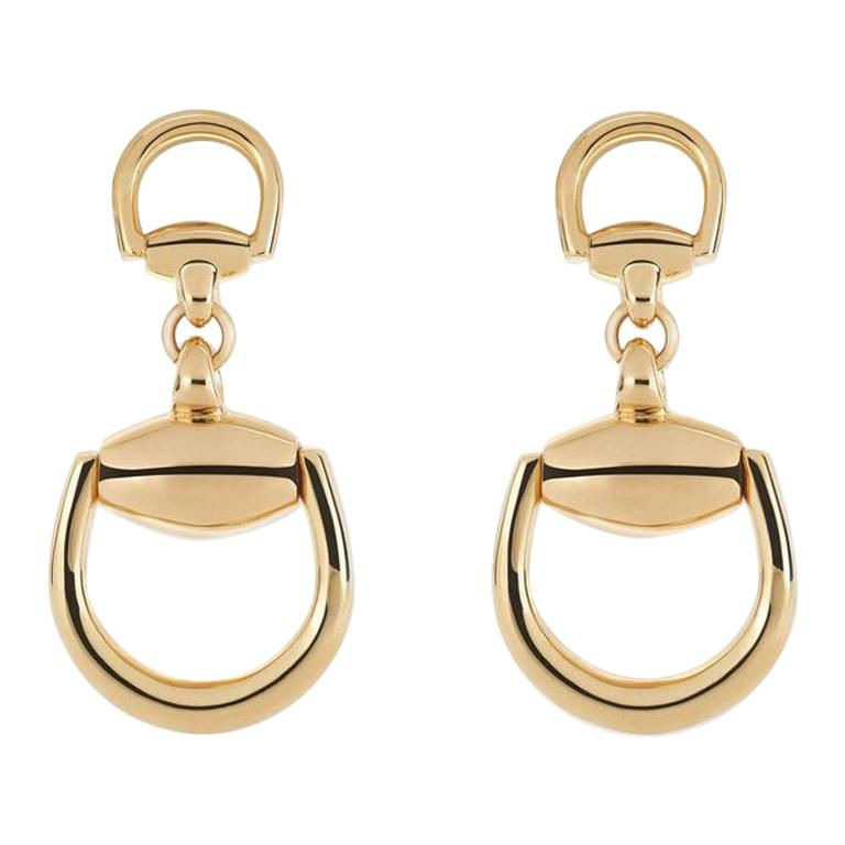 4e2920b46 18 Karat Gold Gucci Stirrup Earrings at 1stdibs