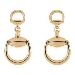 18 Karat Gold Gucci Stirrup Earrings