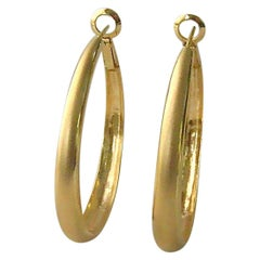 18 Karat Gold Gypsy Hoop Earring