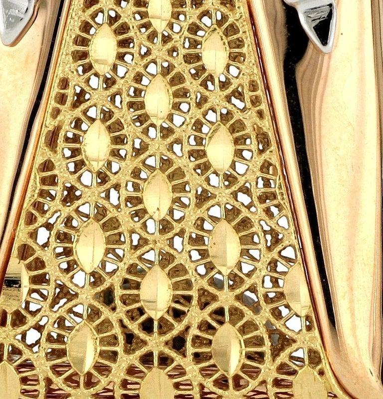 Women's 18 Karat Gold Handbag Pendant with Necklace For Sale