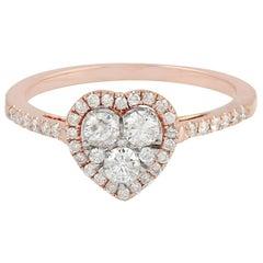 Diamond 18 Karat Gold Heart Ring