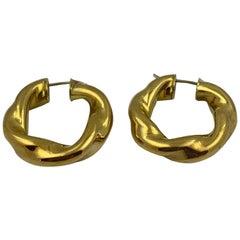 18 Karat Gold Hoop Earrings 12.3 Grams