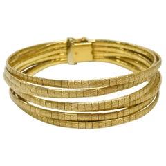 18 Karat Gold Italian Eight-Strand Bracelet