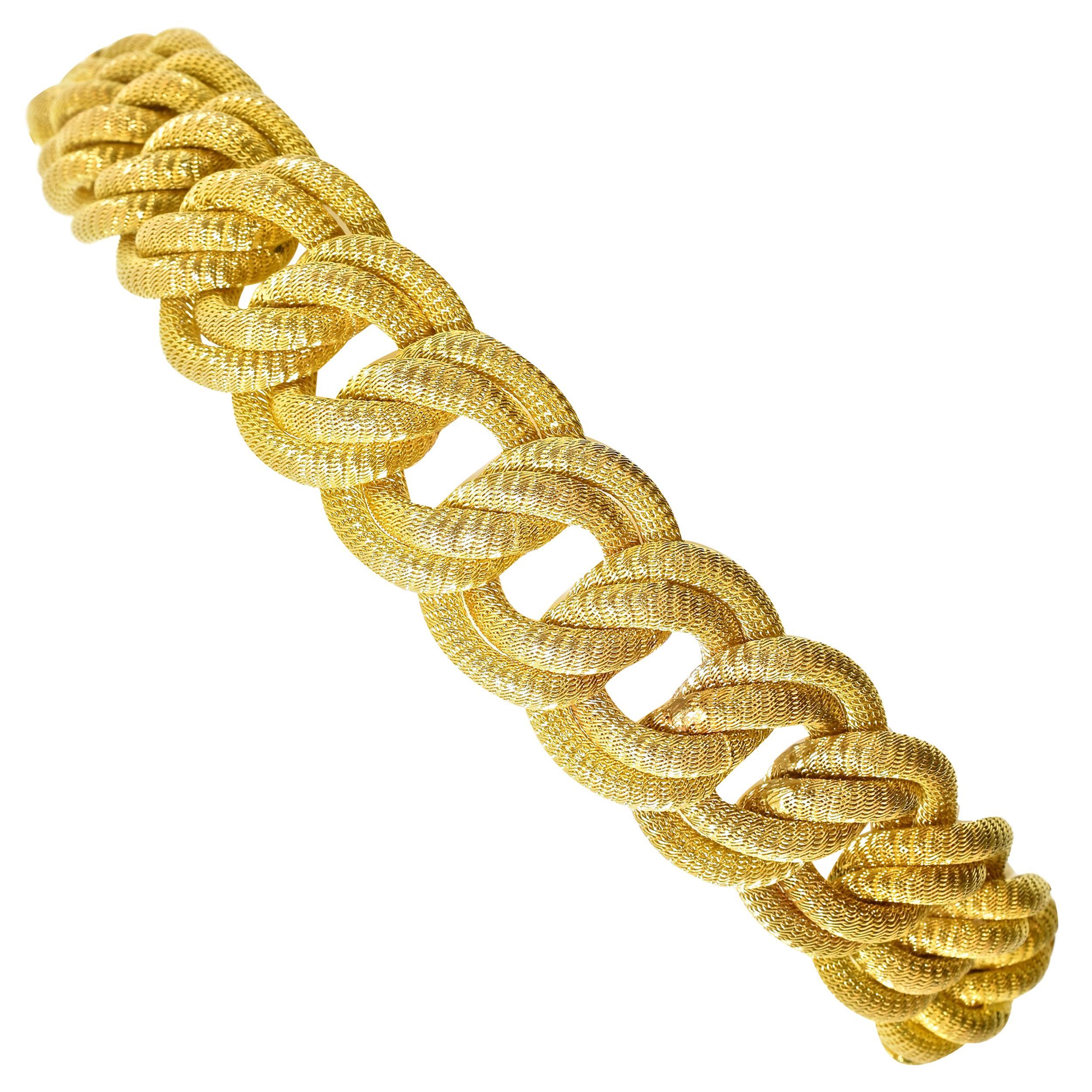 18 Karat Gold Large Bracelet, circa 1960