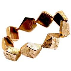 18 Karat Gold Link Bracelet Designed by Bjorn Weckstrom, Finland