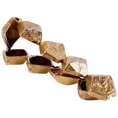 18 Karat Gold Link Bracelet Designed by Bjorn Weckstrom Finland