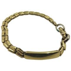 18 Karat Gold Link Id Bracelet