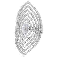 18 Karat Gold Marquise Diamond Ring