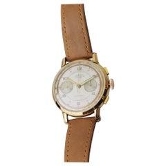 18 Karat Gold Men's Automatic Chronograph Wristwatch by Zelus