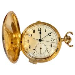 18 Karat Gold Minutenrepetition Taschenuhr