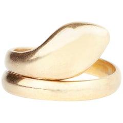 18 Karat Gold Modern Snake Ring