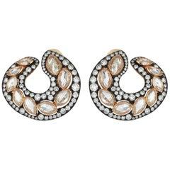 18 Karat Gold Monan 9.02 Carat Diamond Earrings