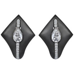 18 Karat Gold Monan Black Kingdom 1.05 Carat Diamond Earrings