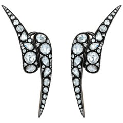 18 Karat Gold Monan Maleficent 3.04 Carat Diamond Earrings