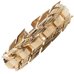 18 Karat Gold Multi-Linked Italian Bracelet