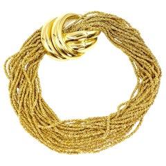 18 Karat Gold Multi-Strand Bracelet by Yuri Ichihashi