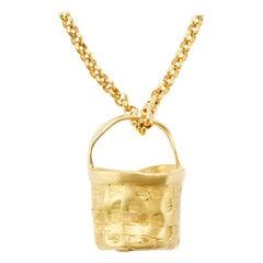 """Nantucket """"Anti-Basket"""" Pendant in 18 Karat Gold"""