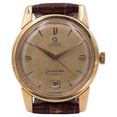 18 Karat Gold Omega Seamaster Automatic Wristwatch, 1952