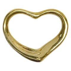 18 Karat Gold Open Heart Pendant
