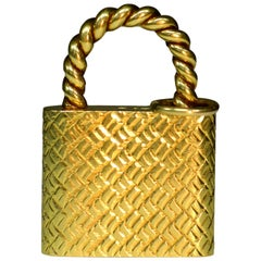 18 Karat Gold Padlock Pendant by Cartier