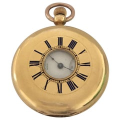 18 Karat Gold Patek, Philippe & Co. Geneve Half Hunter Pocket Watch