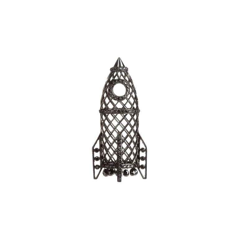 Sybarite Jewellery 4.16 Carat Briolette Cut Diamond Pendant 18 Karat Gold For Sale