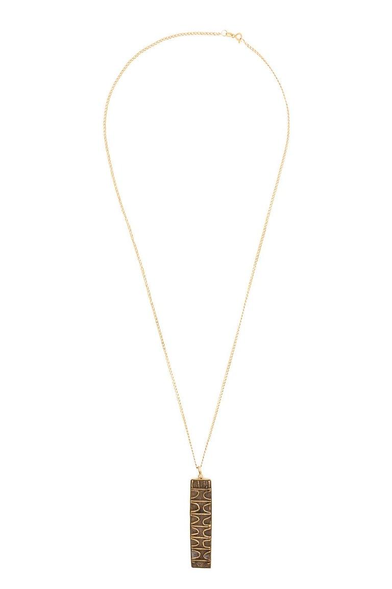 18 Karat Gold Pendant and Chain 1