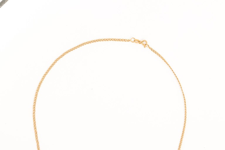 18 Karat Gold Pendant and Chain 2