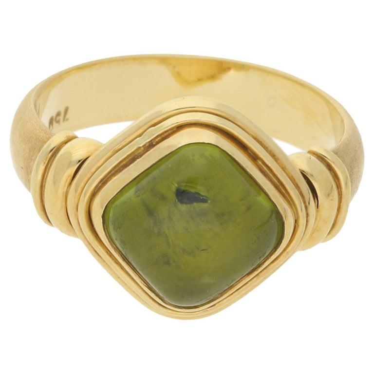 18 Karat Gold Peridot Ring