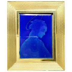 18 Karat Gold Photo Frame