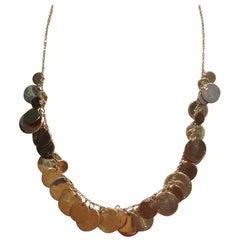 18 Karat Gold Plated Handmade Necklace