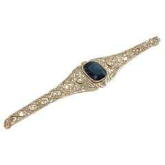 18 Karat Gold Platinum and Diamond Brooch