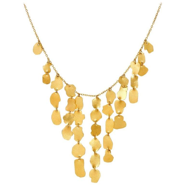 18 Karat Gold PSTM Myanmar Kan Pyramid Necklace For Sale