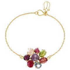 18 Karat Gold PSTM Myanmar Spinel Marlar Bracelet