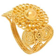 18 Karat Gold PSTM Myanmar Zar Flower Ring